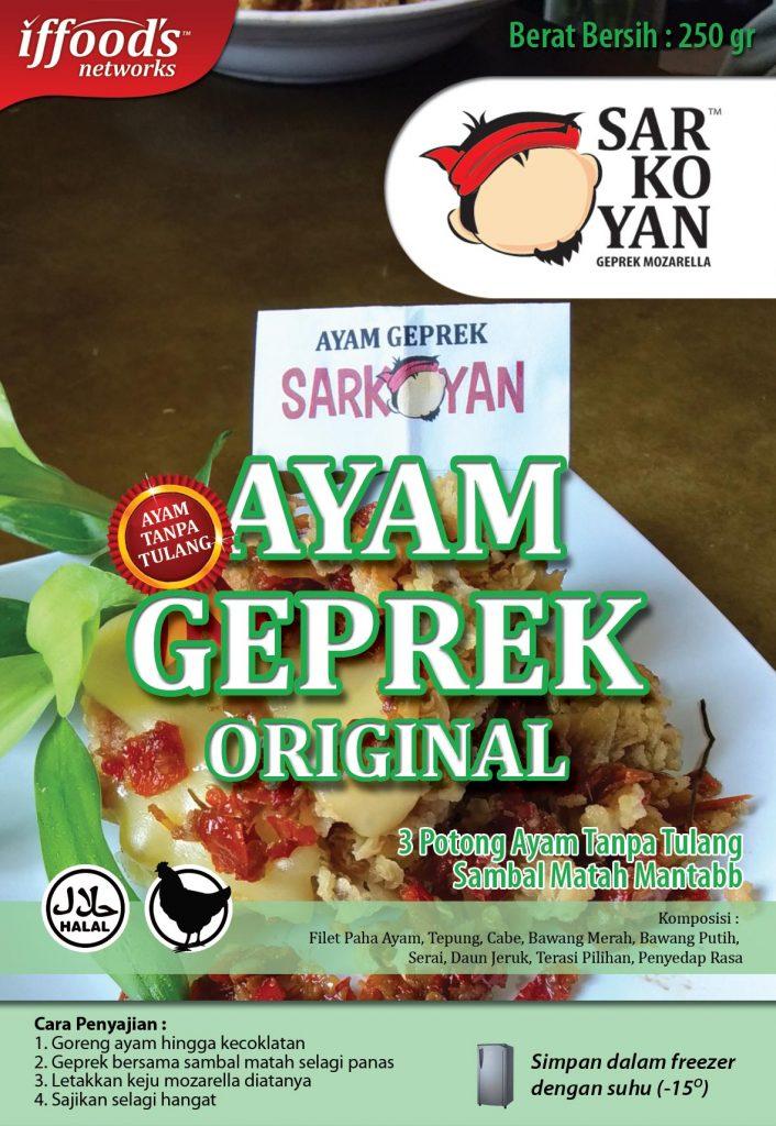 Frozen Food Ayam Geprek